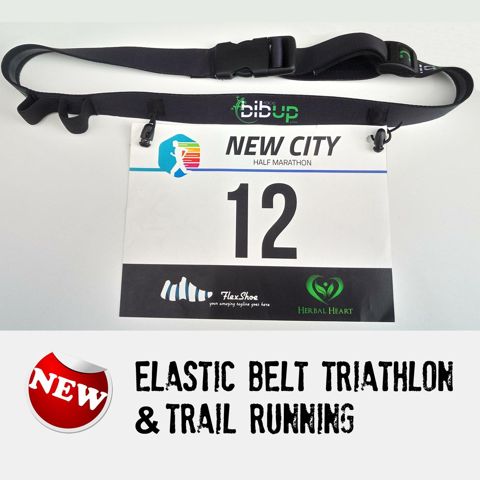 race belt running triathlon black