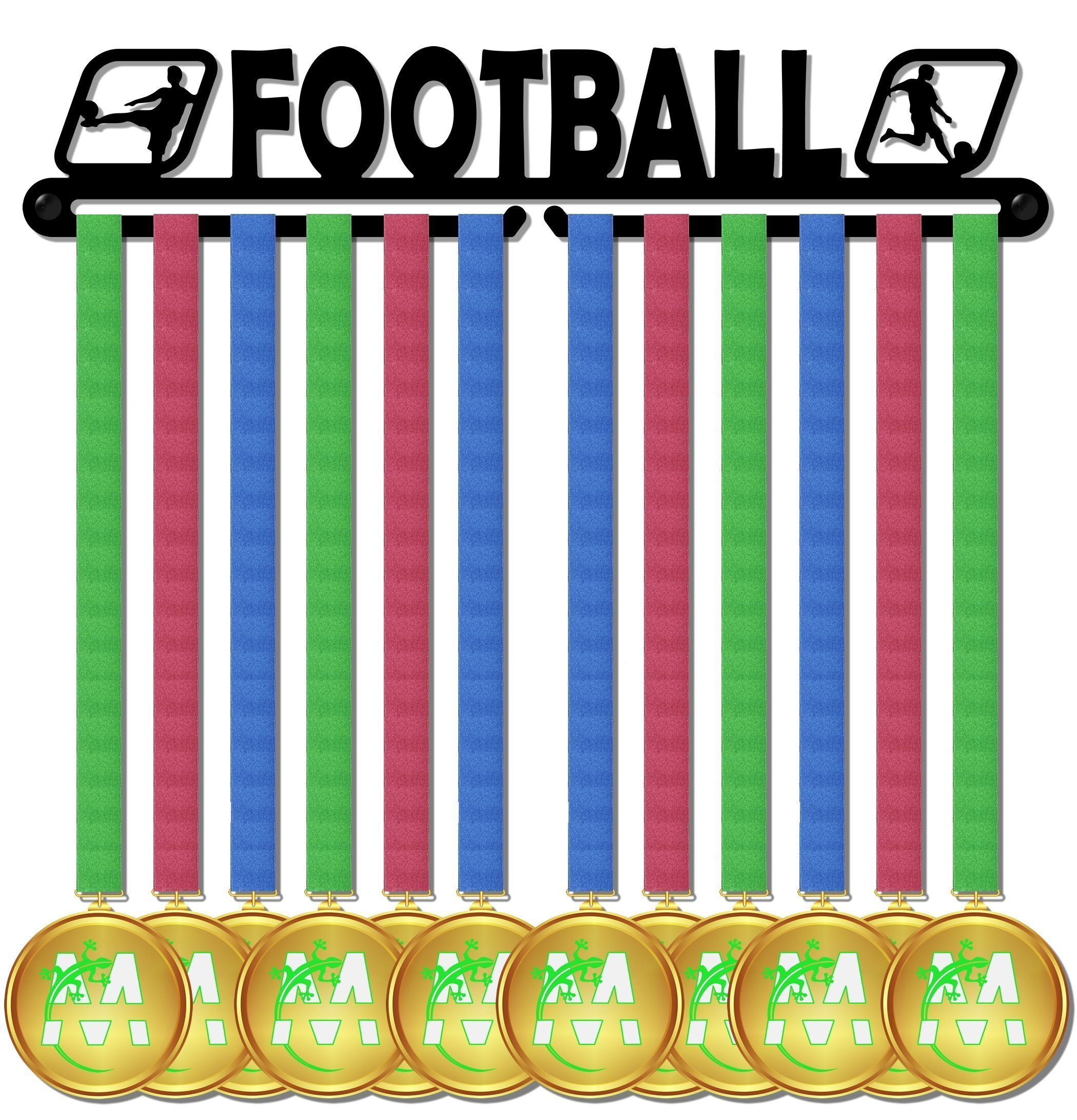 Medal Display medagliere da muro madal hanger football design