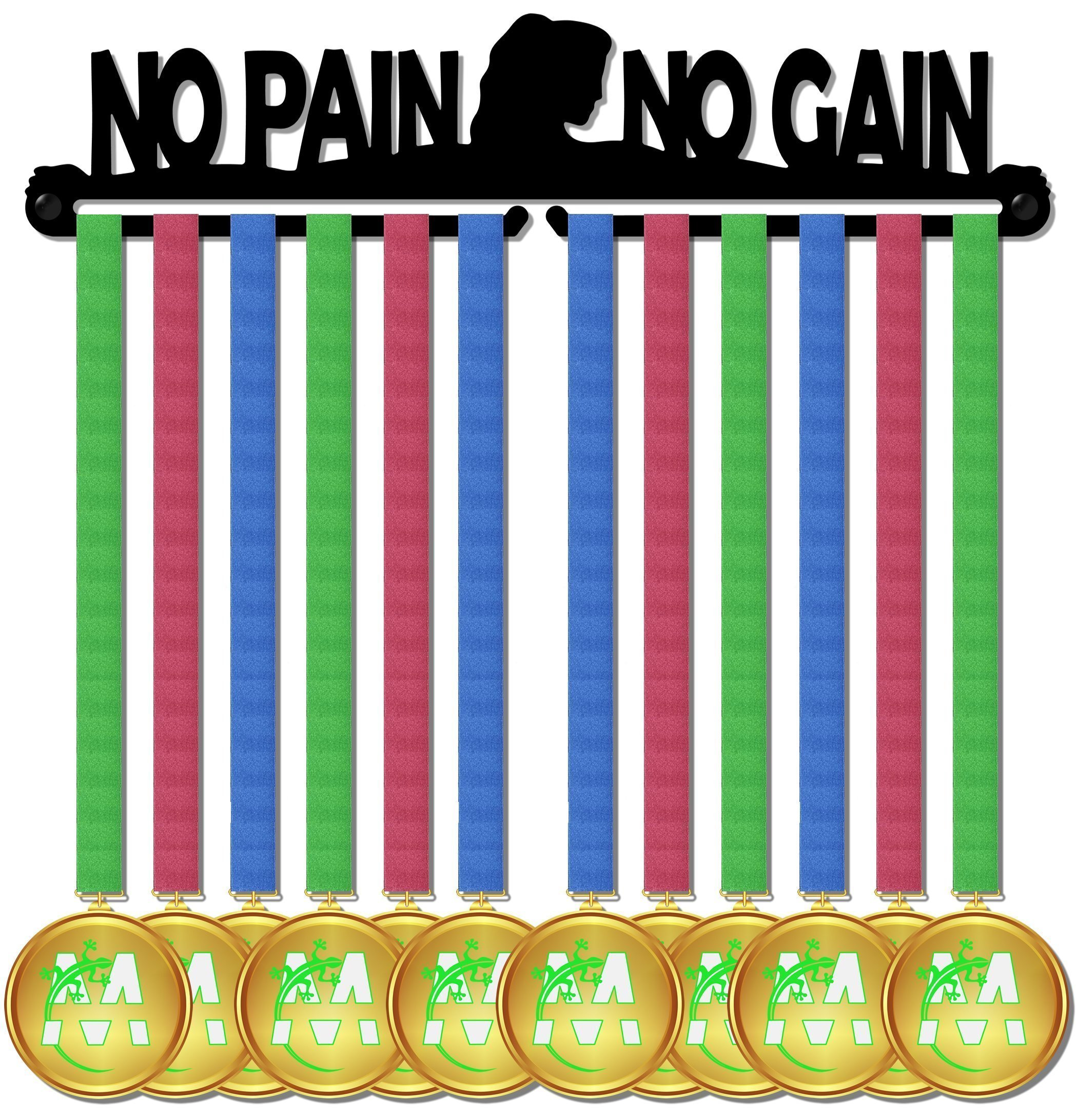 Medal Display medagliere da muro madal hanger no pain no gain design