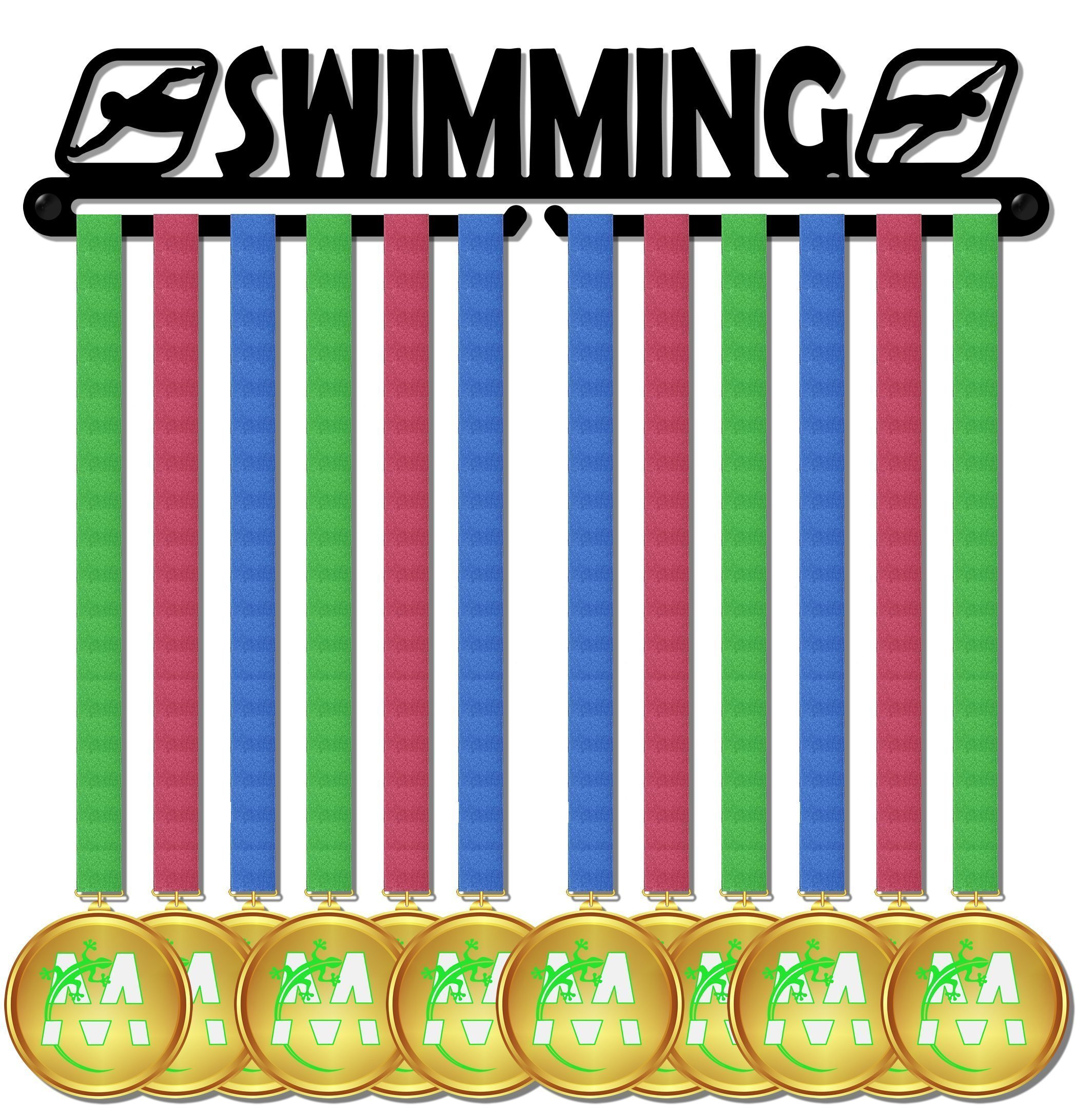 Medal Display medagliere da muro medal hanger swimming design