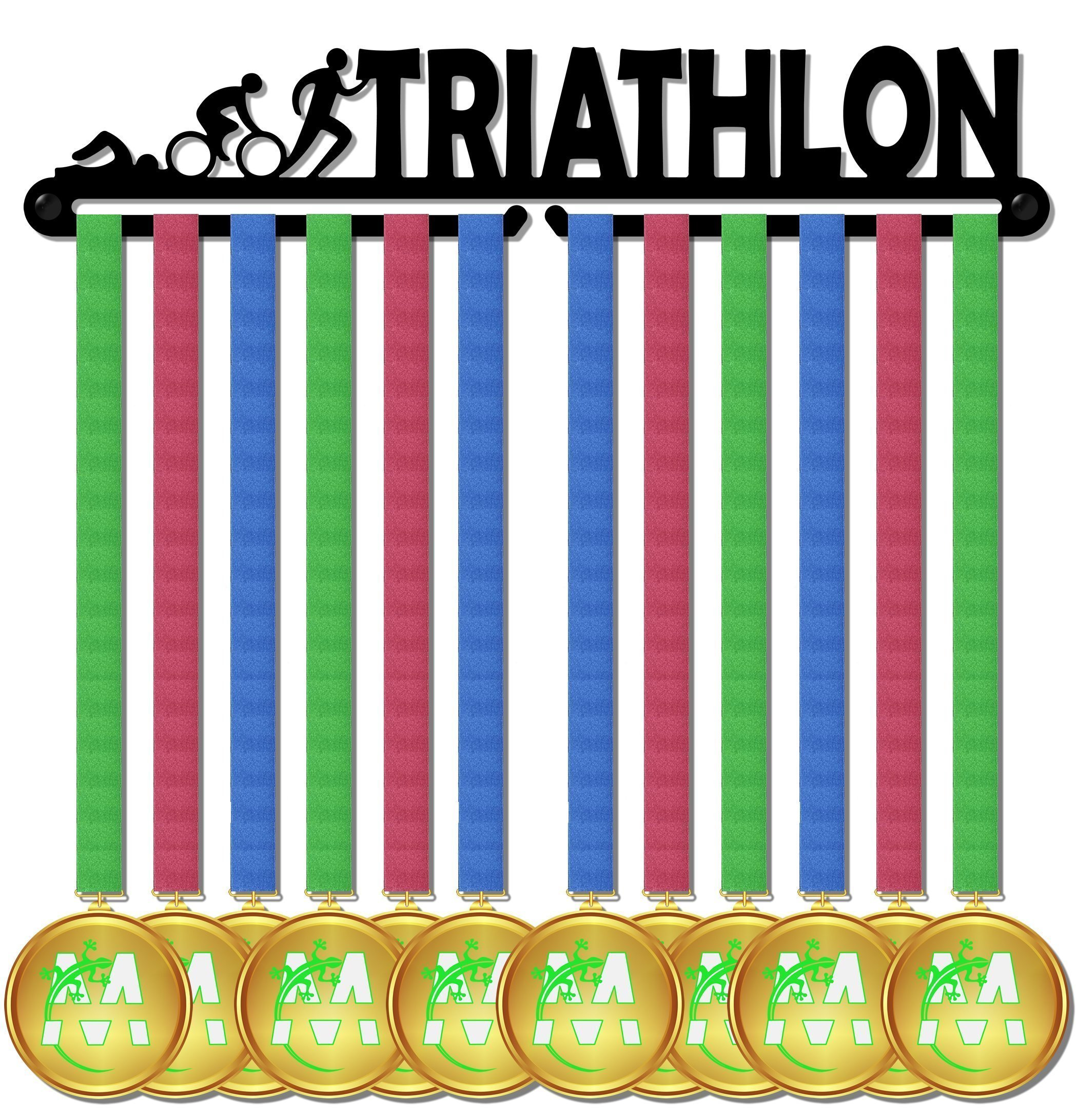Medal Display medagliere da muro medal hanger triathlon design
