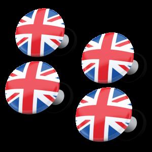 racebibup magneti calamite pettorali gara bandiera inglese