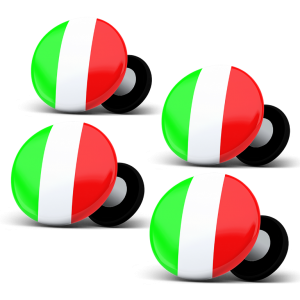 racebibup magneti calamite pettorali gara bandiera italiana