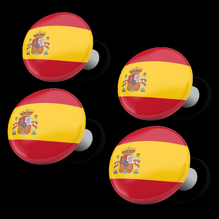 racebibup magneti calamite pettorali gara bandiera spagnola