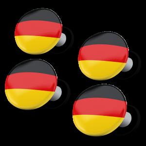 racebibup magneti calamite pettorali gara bandiera tedesca