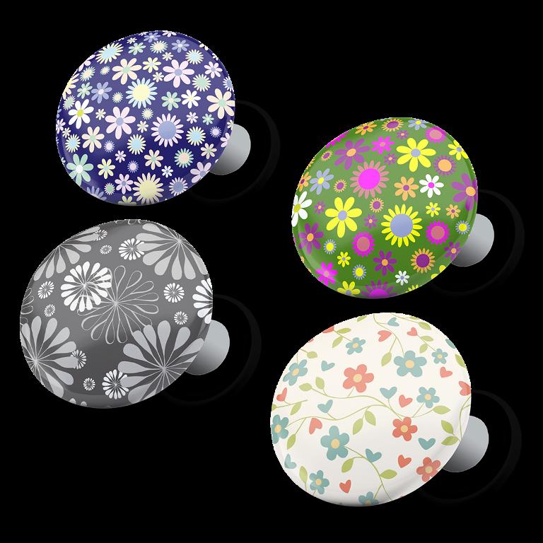 racebibup magneti calamite pettorali gara fiori