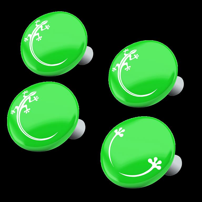 racebibup magneti calamite pettorali gara verde